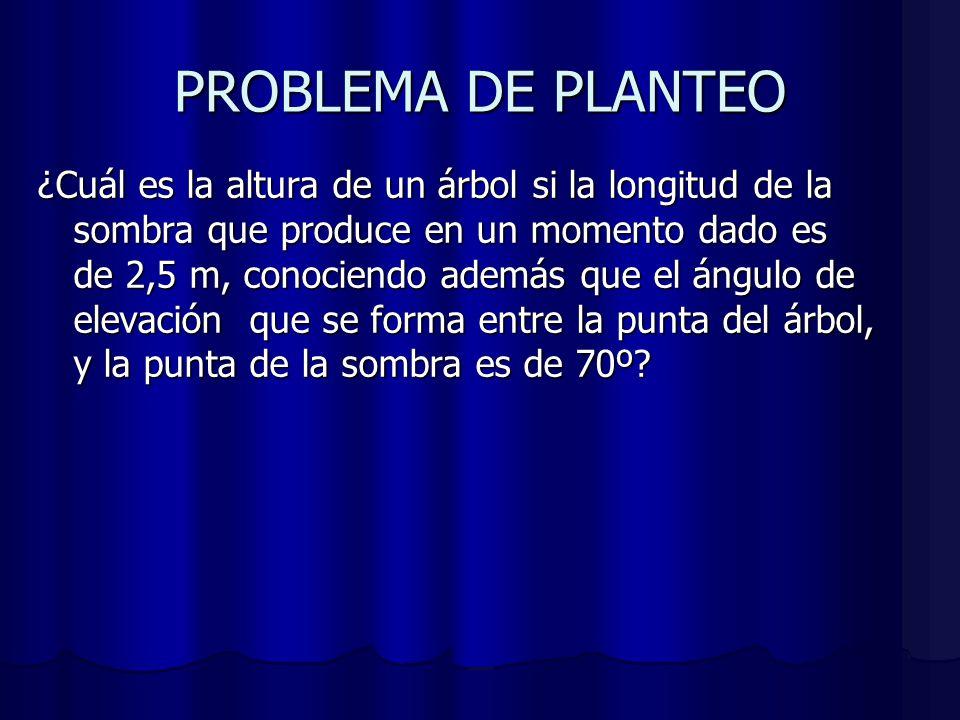 PROBLEMA DE PLANTEO