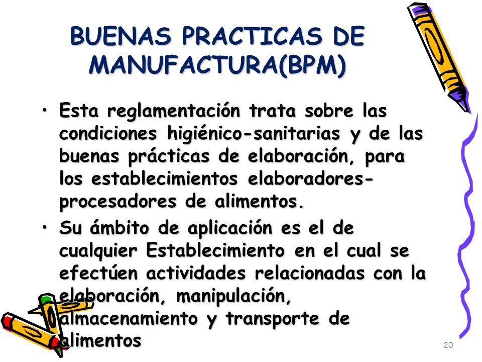 Facultad de ciencias medicas ppt descargar for Manual de buenas practicas de higiene y manipulacion de alimentos