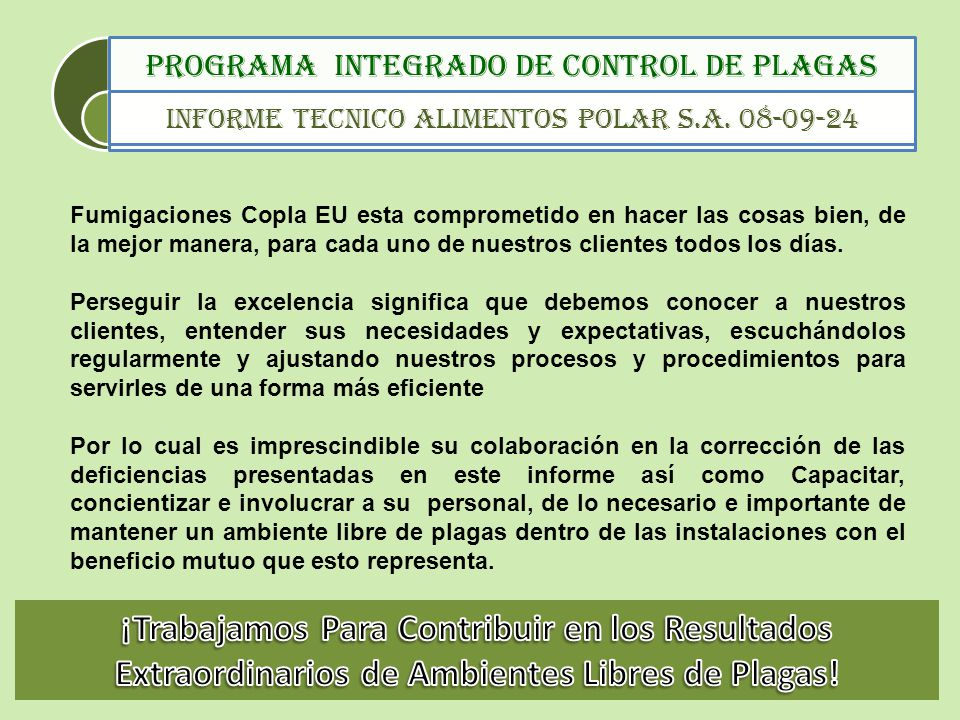 Programa integrado de control de plagas ppt descargar for Control de plagas badajoz