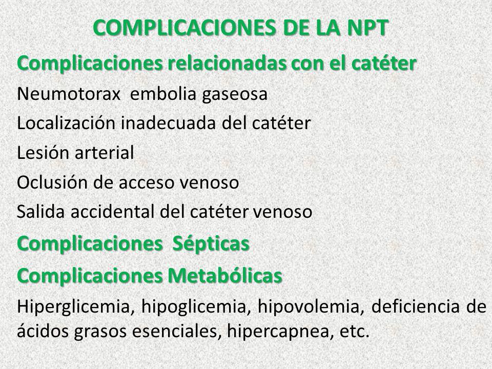 COMPLICACIONES DE LA NPT