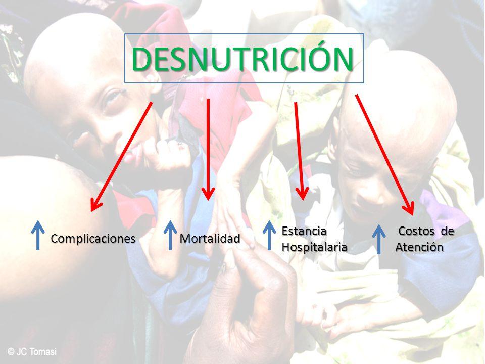DESNUTRICIÓN Estancia Hospitalaria Costos de Atención Complicaciones