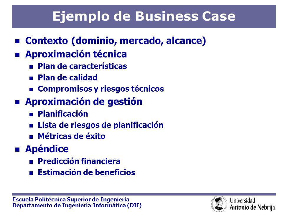 2 planificaci n b sica departamento de ingenier a inform tica ppt descargar - Business case ejemplo ...