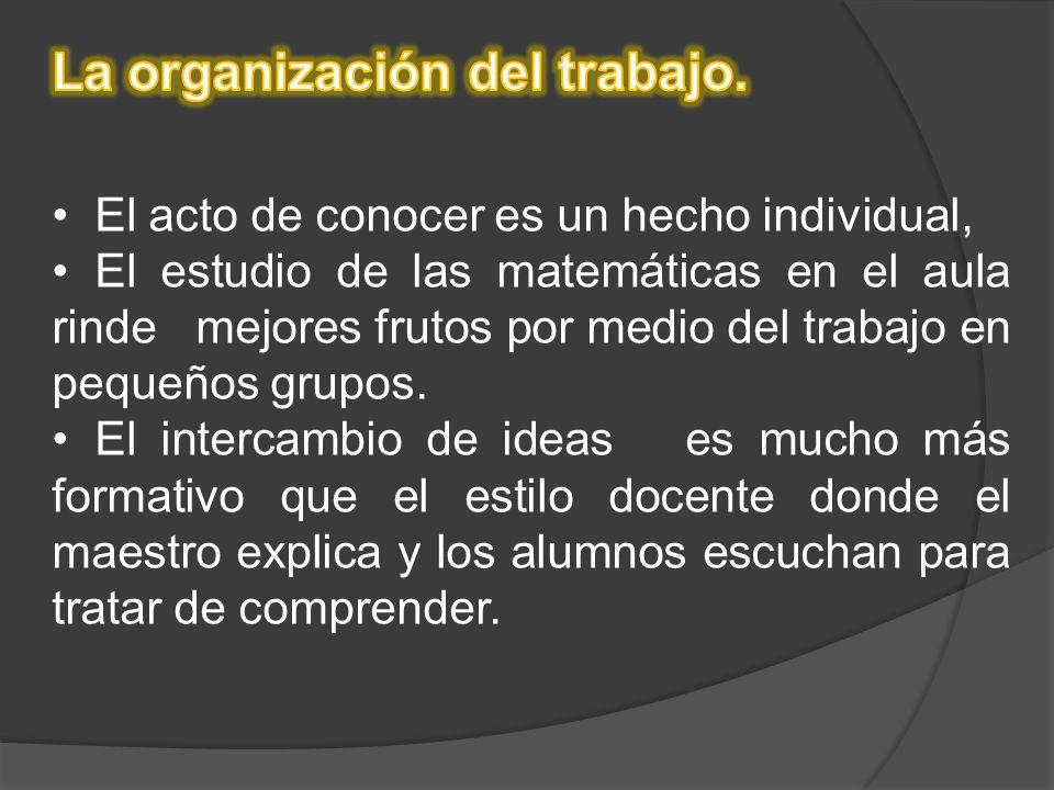 La organización del trabajo.