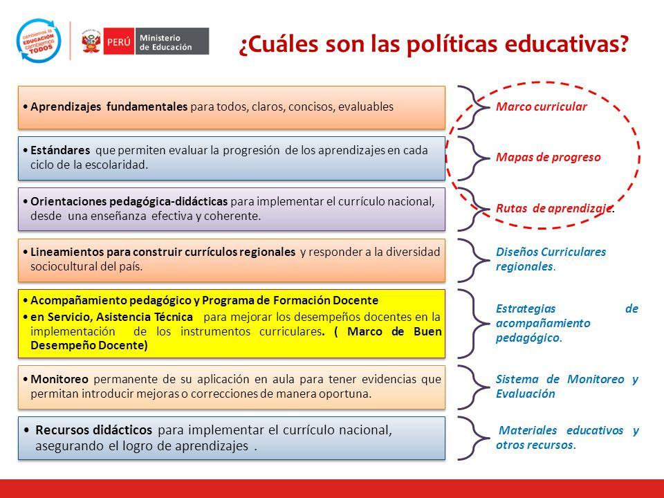 ¿Cuáles son las políticas educativas
