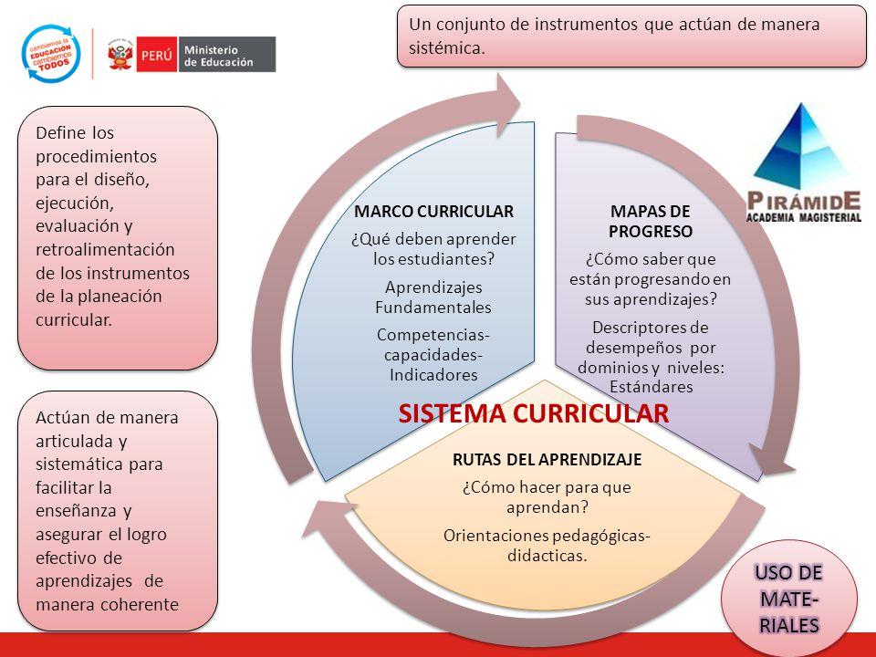 SISTEMA CURRICULAR USO DE MATE-RIALES