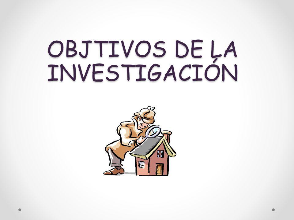 OBJTIVOS DE LA INVESTIGACIÓN
