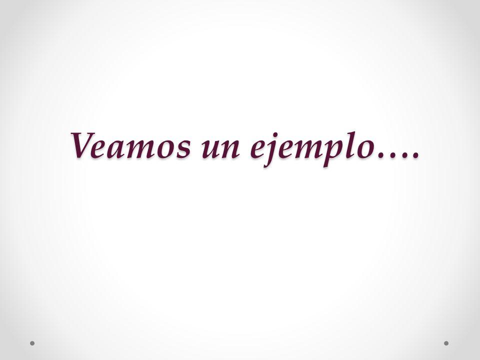 Veamos un ejemplo….