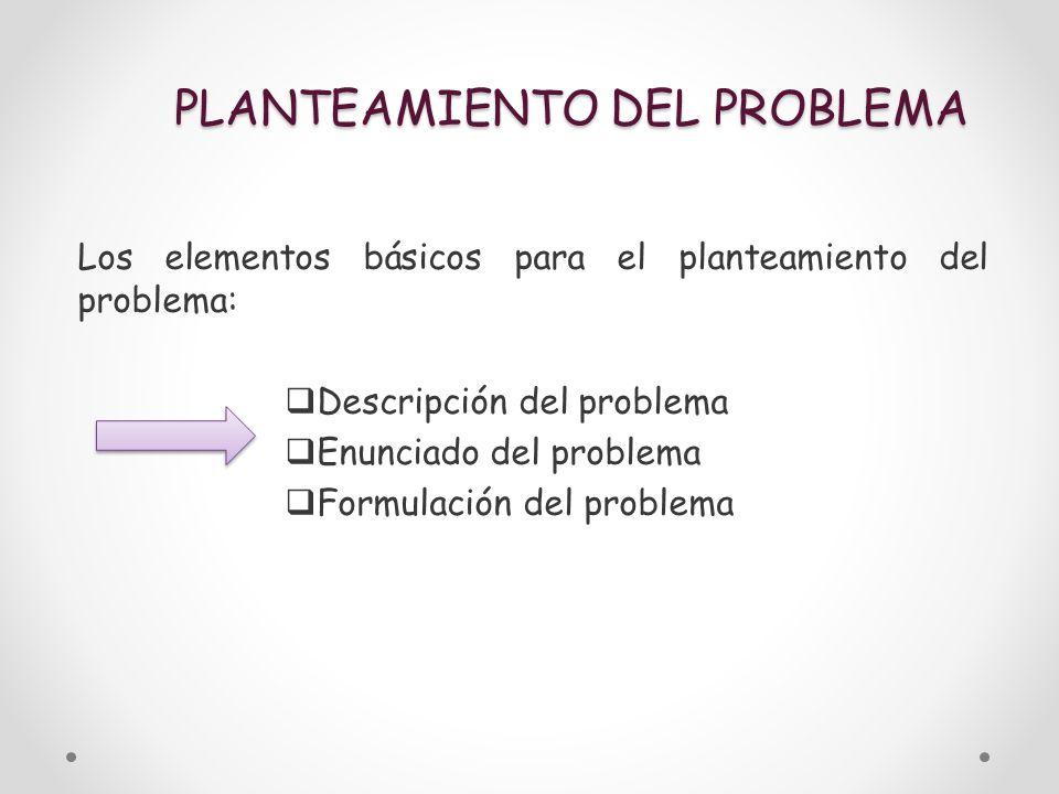 PLANTEAMIENTO DEL PROBLEMA