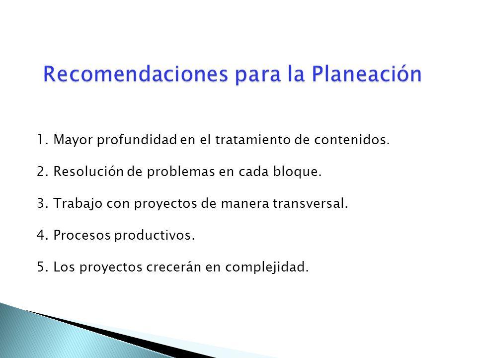 Recomendaciones para la Planeación