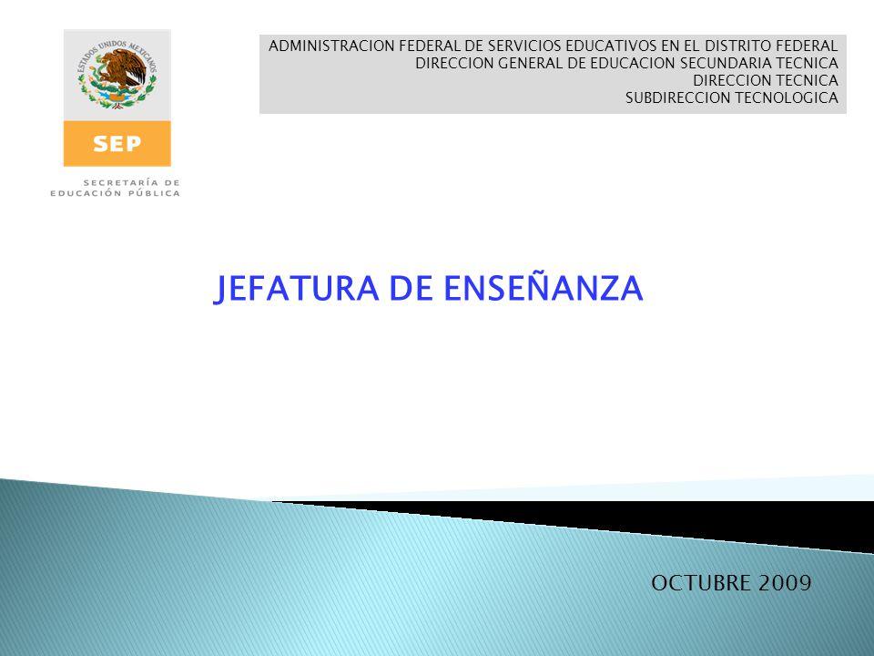 JEFATURA DE ENSEÑANZA OCTUBRE 2009