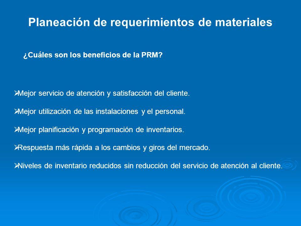 Planeación de requerimientos de materiales