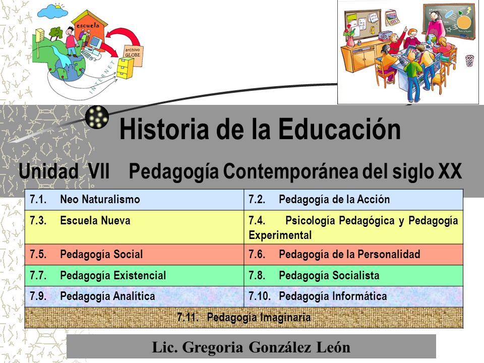 Historia de la educaci n ppt descargar for Caracteristicas de la contemporanea