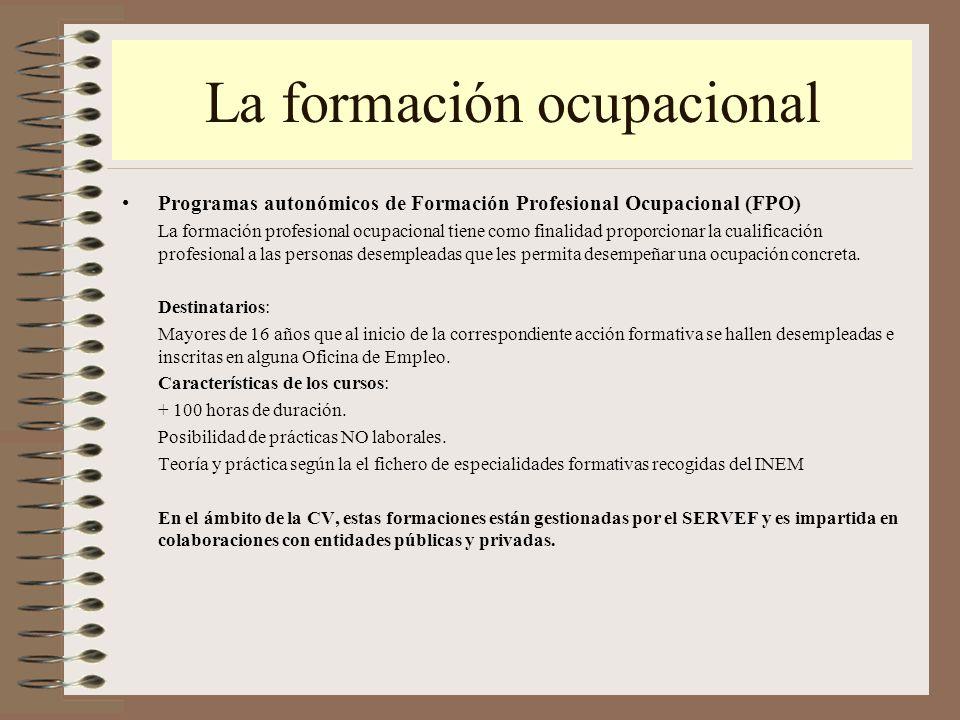 Itinerarios desde la formaci n no reglada ppt video for Oficina virtual de formacion profesional para el empleo