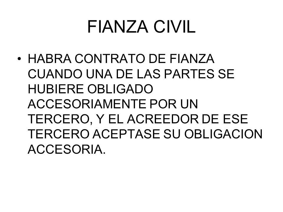 FIANZA CIVIL