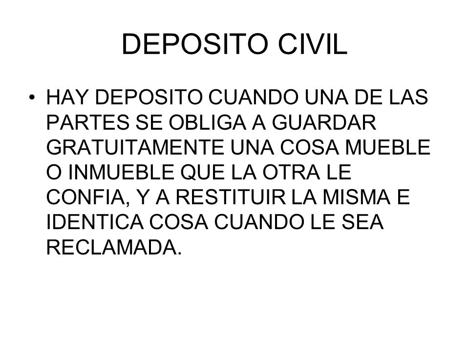 DEPOSITO CIVIL