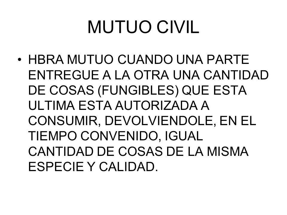 MUTUO CIVIL