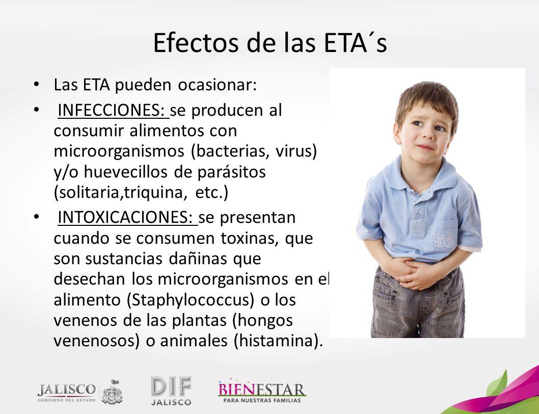 Efectos de las ETA´s Las ETA pueden ocasionar: