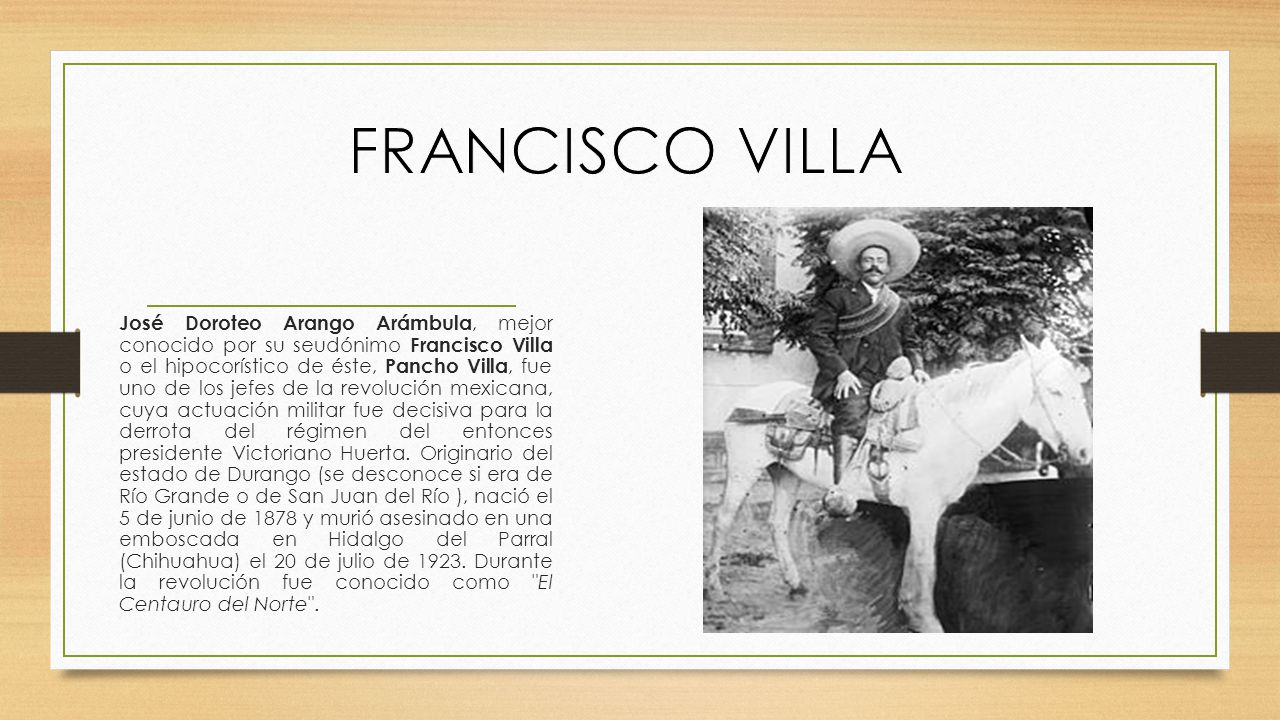 FRANCISCO VILLA