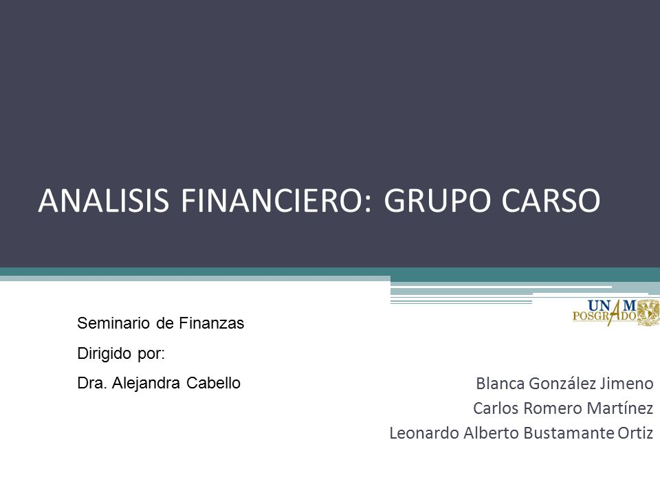Analisis financiero grupo carso ppt video online descargar for Blanca romero grupo musical