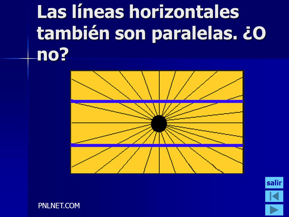 Las líneas horizontales también son paralelas. ¿O no