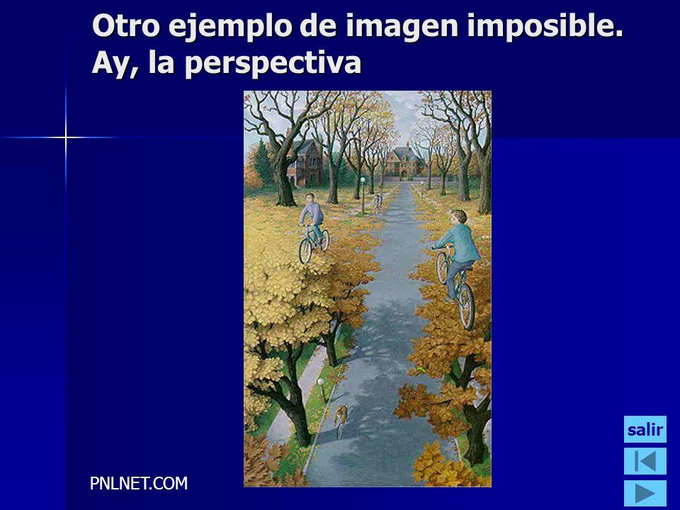 Otro ejemplo de imagen imposible. Ay, la perspectiva