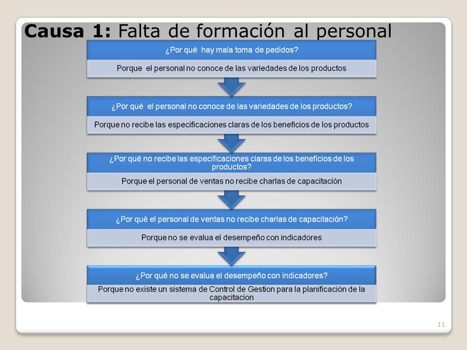 Causa 1: Falta de formación al personal