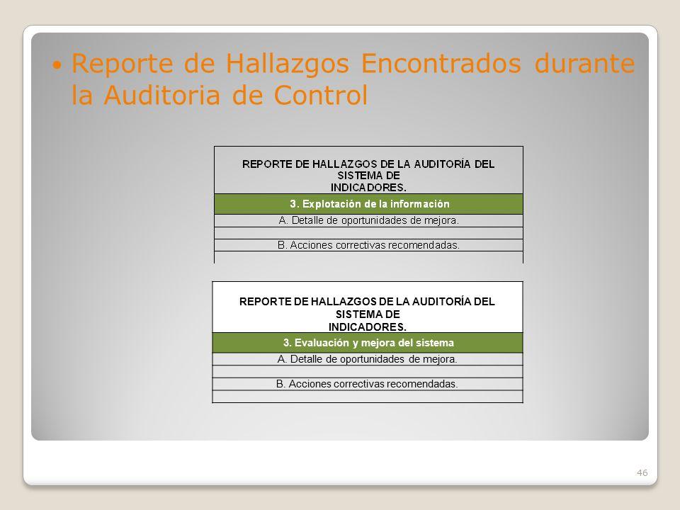 3. Evaluación y mejora del sistema