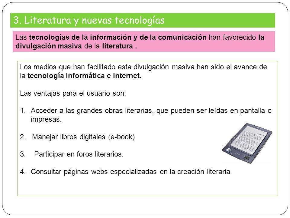 3. Literatura y nuevas tecnologías