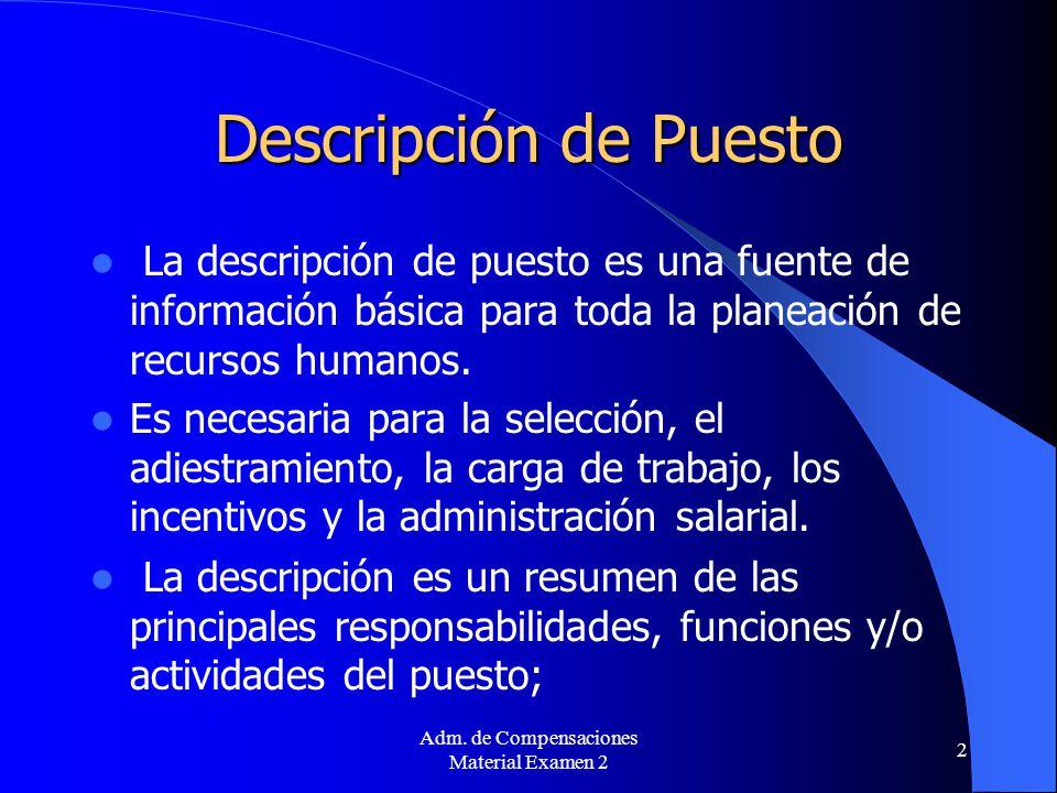 Descripción de Puesto Prof. Ana Delia Trujillo-Jiménez - ppt descargar