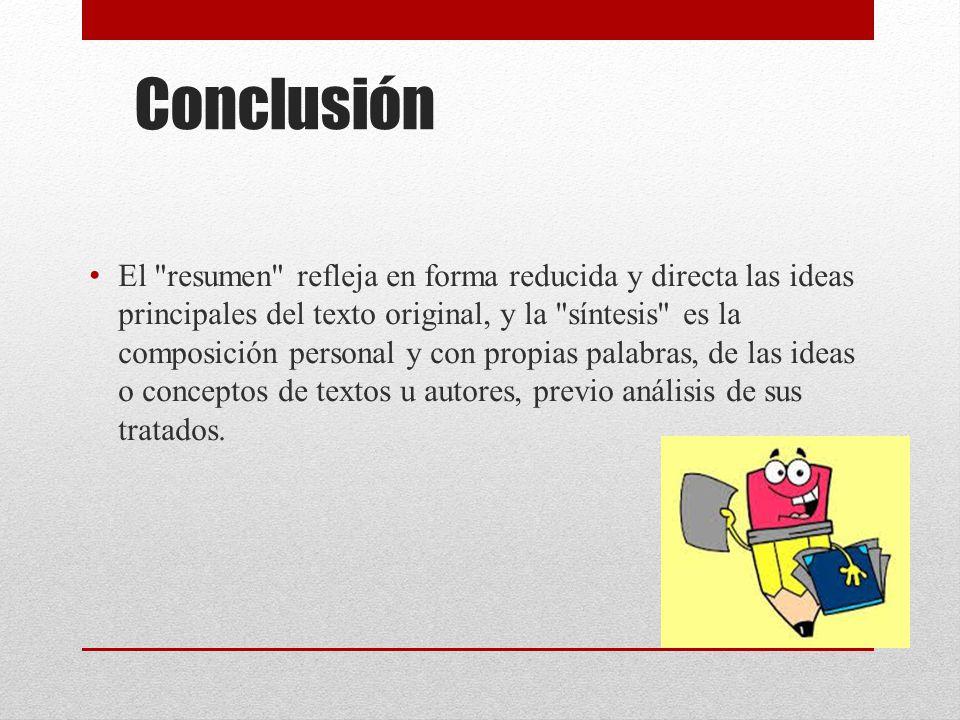 Nice Conclusion De Resumen Y Sintesis Crest Resume Ideas