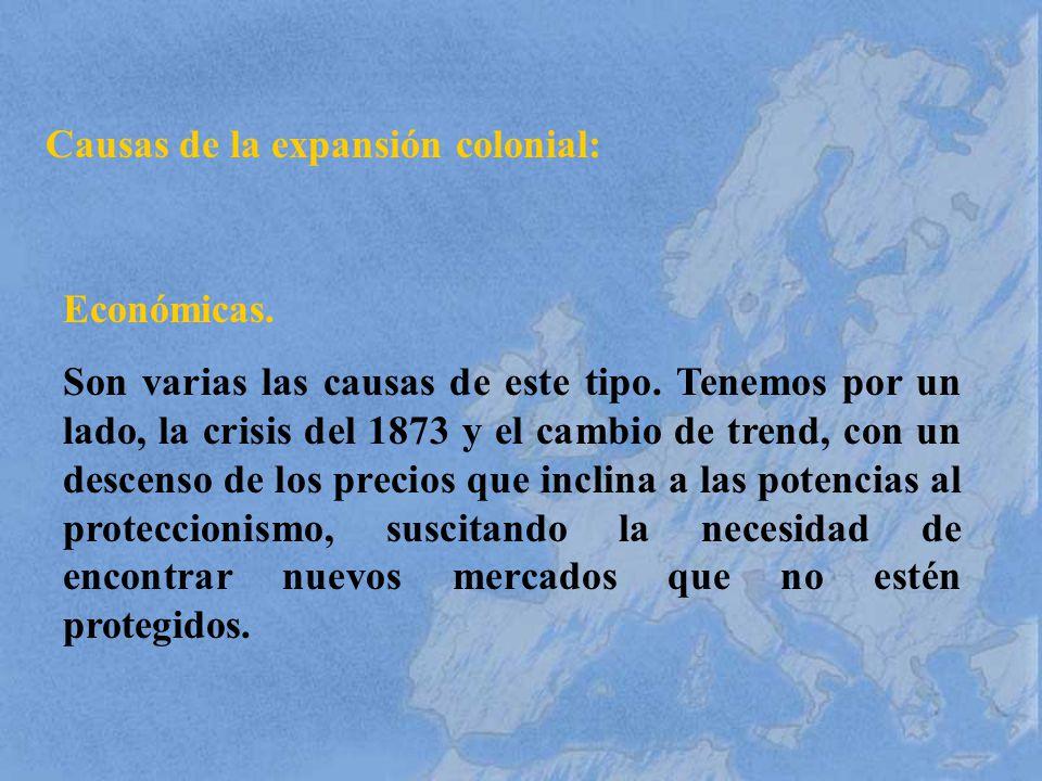 Causas de la expansión colonial: