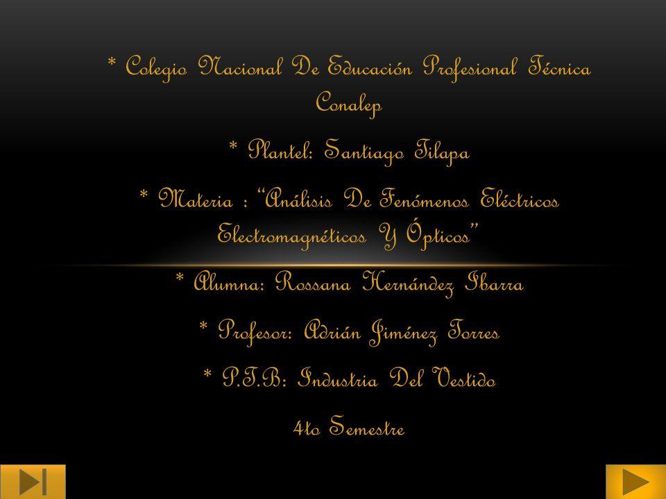 * Colegio Nacional De Educación Profesional Técnica Conalep