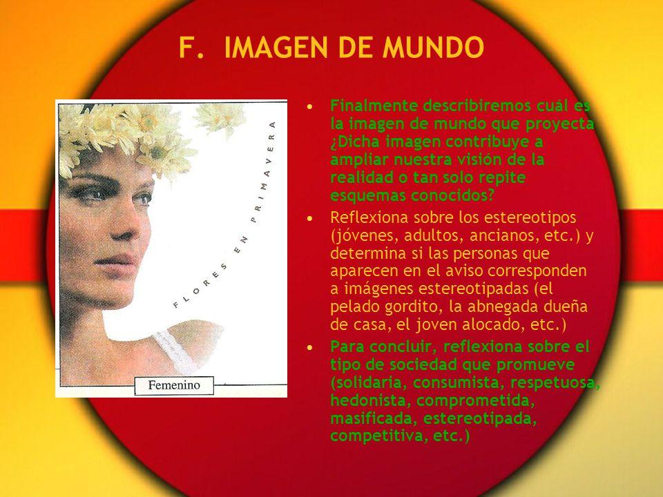 F. IMAGEN DE MUNDO