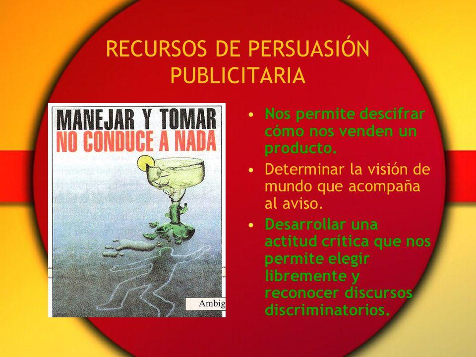 RECURSOS DE PERSUASIÓN PUBLICITARIA