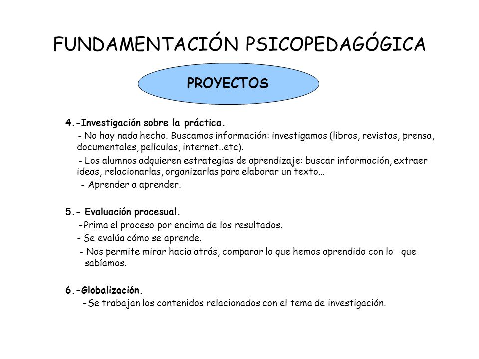 FUNDAMENTACIÓN PSICOPEDAGÓGICA