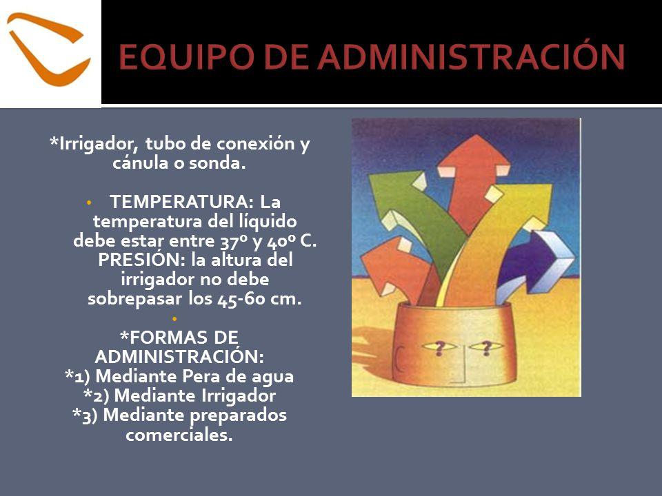 EQUIPO DE ADMINISTRACIÓN