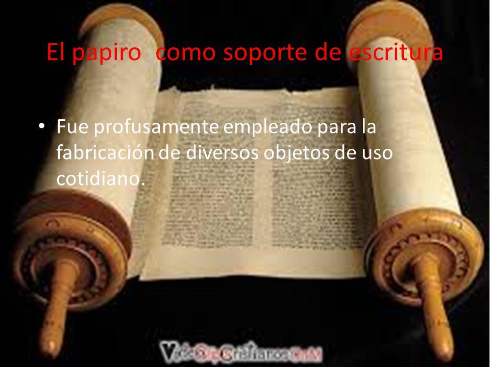 El papiro como soporte de escritura