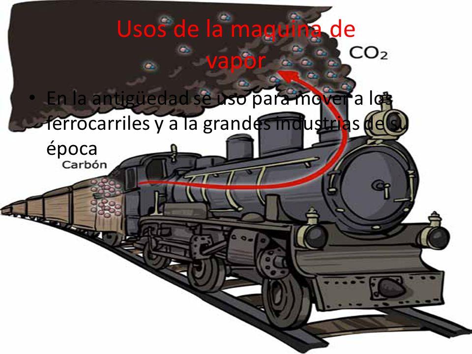 Usos de la maquina de vapor