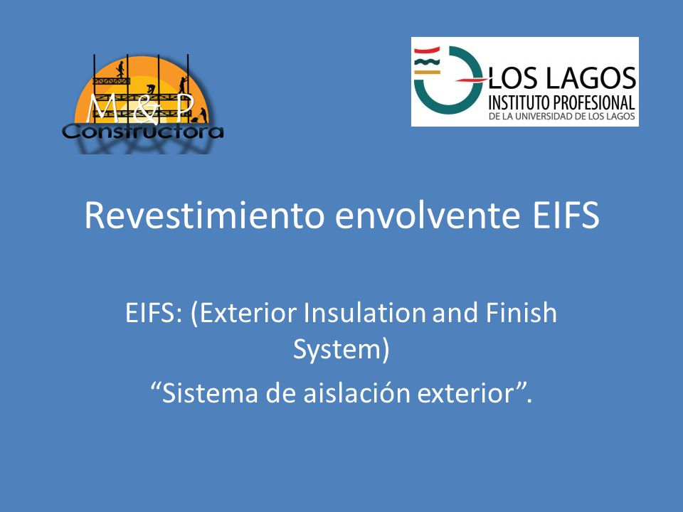 Revestimiento envolvente eifs ppt descargar for Exterior insulation and finish system
