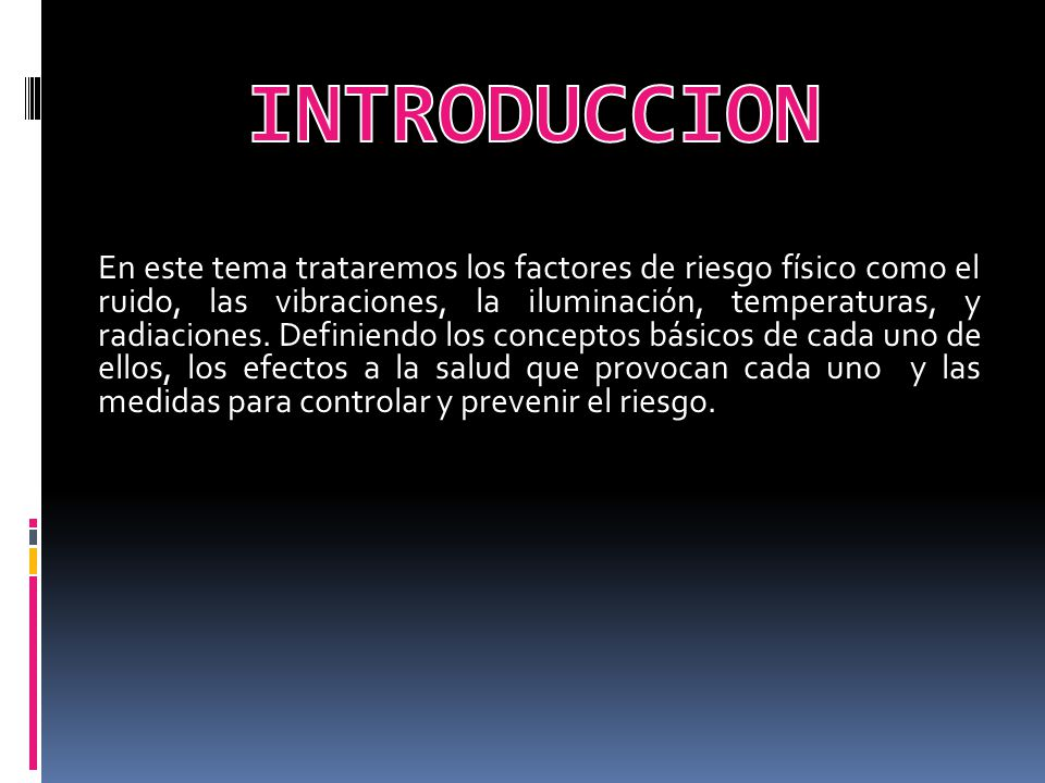 Factores De Riesgo Fisico Ppt Video Online Descargar