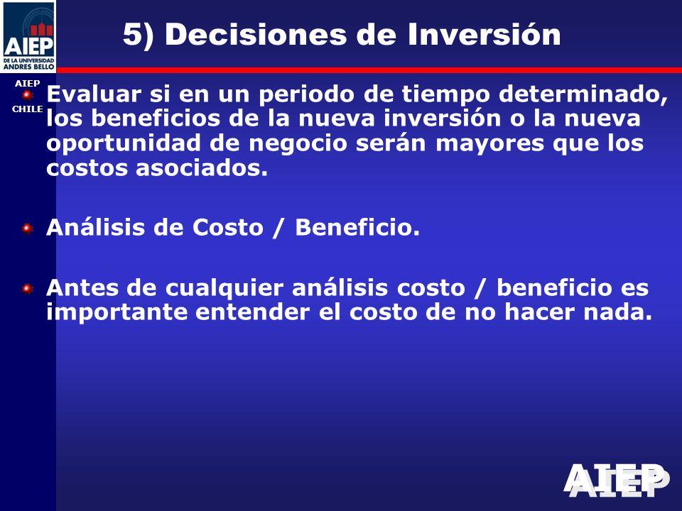 5) Decisiones de Inversión