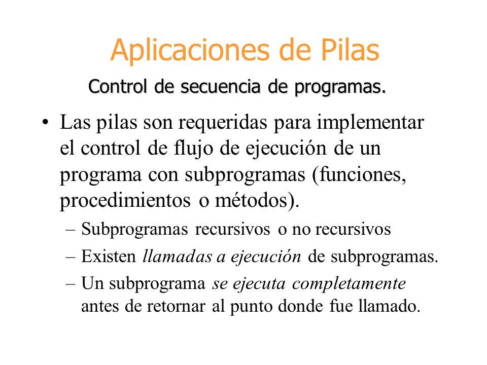 Control de secuencia de programas.