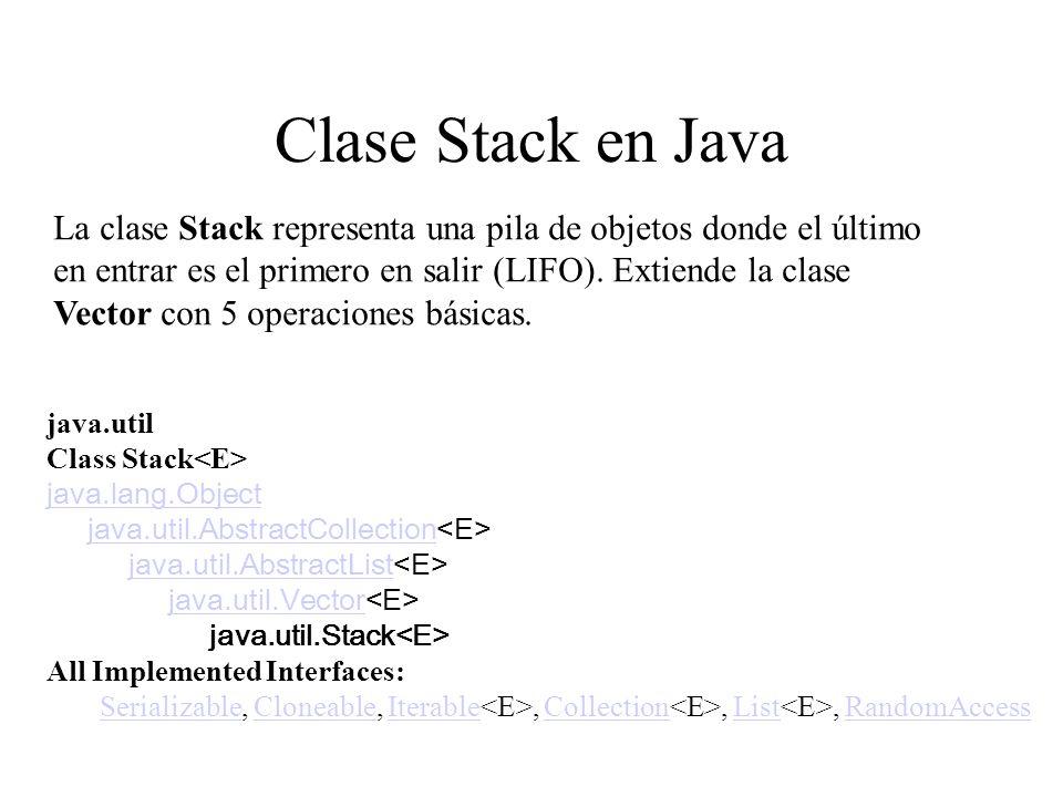 Clase Stack en Java