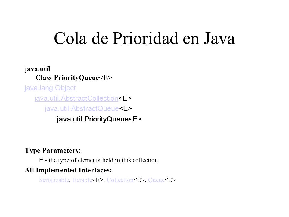 Cola de Prioridad en Java