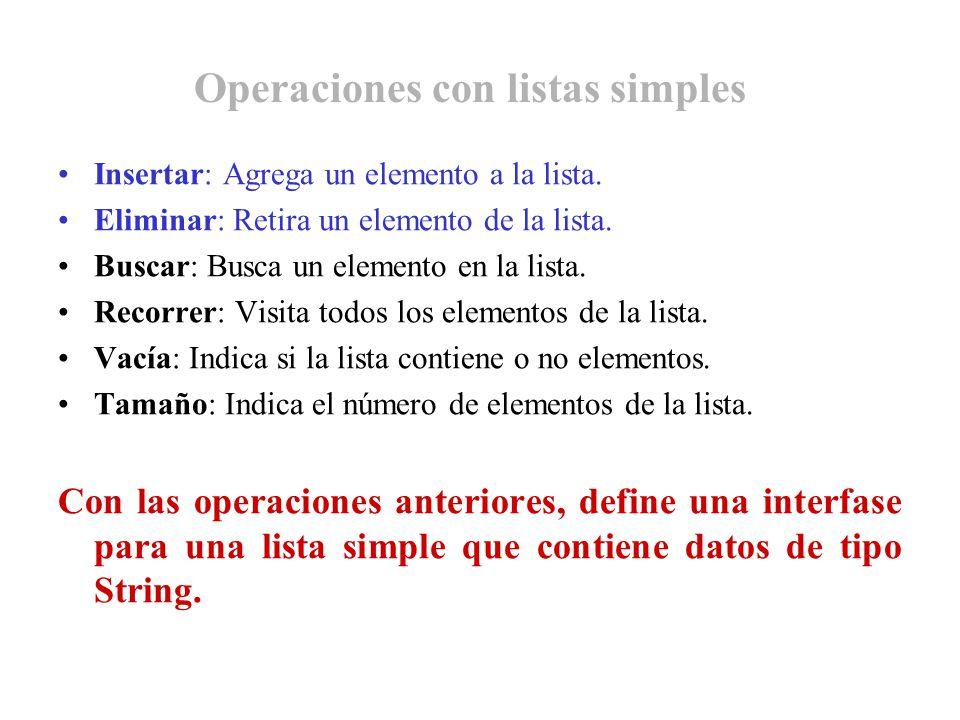 Operaciones con listas simples