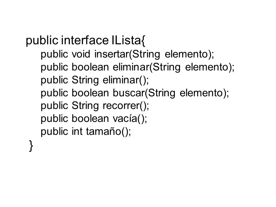 public interface ILista{