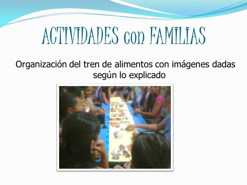 ACTIVIDADES con FAMILIAS
