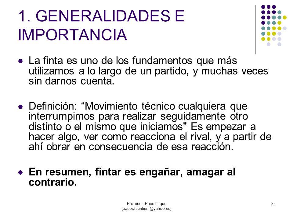 1. GENERALIDADES E IMPORTANCIA