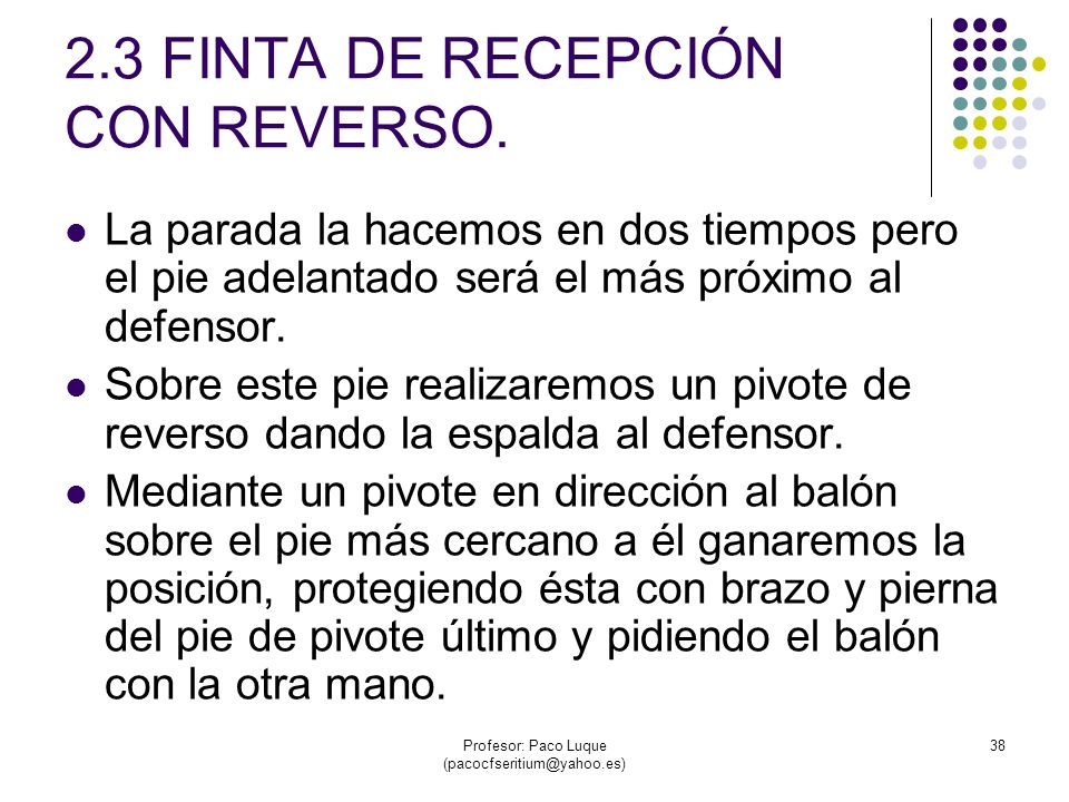 2.3 FINTA DE RECEPCIÓN CON REVERSO.