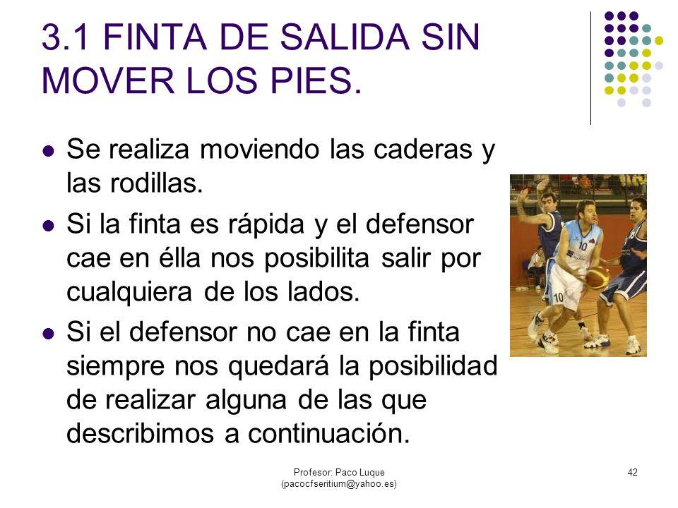 3.1 FINTA DE SALIDA SIN MOVER LOS PIES.